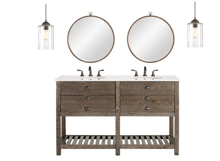 Design A Cute Guest Bathroom On A Budget With Lamps Plus