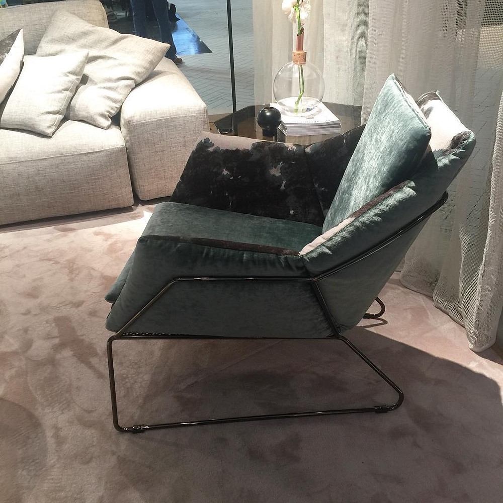 Maison and Objet, January 2019. Chair with metal frame and legs