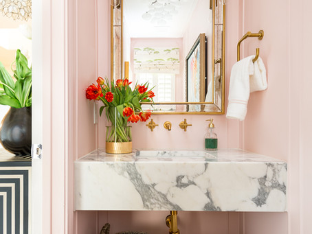 One Room Challenge – Parisian Eclectic Powder Room – REVEAL
