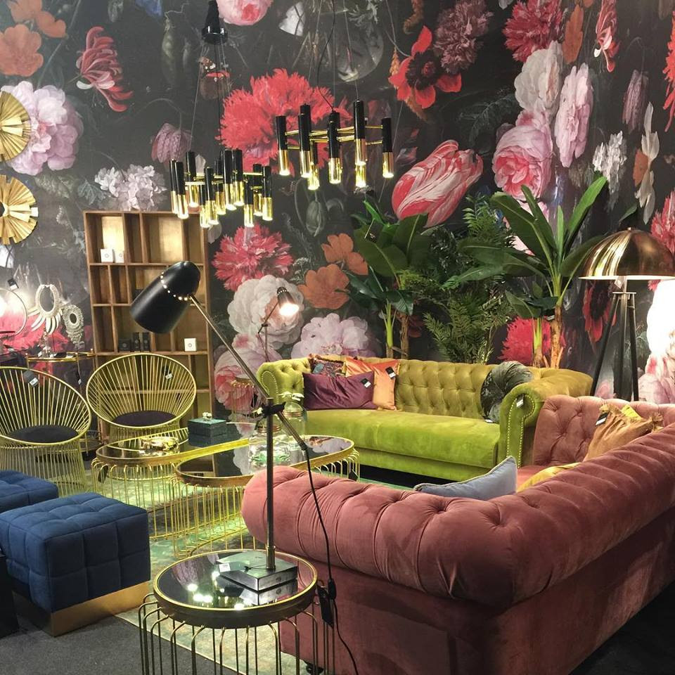 Maison and Objet, January 2019. Bold floral wallpaper