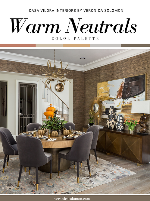 Color Palette - warm Neutrals