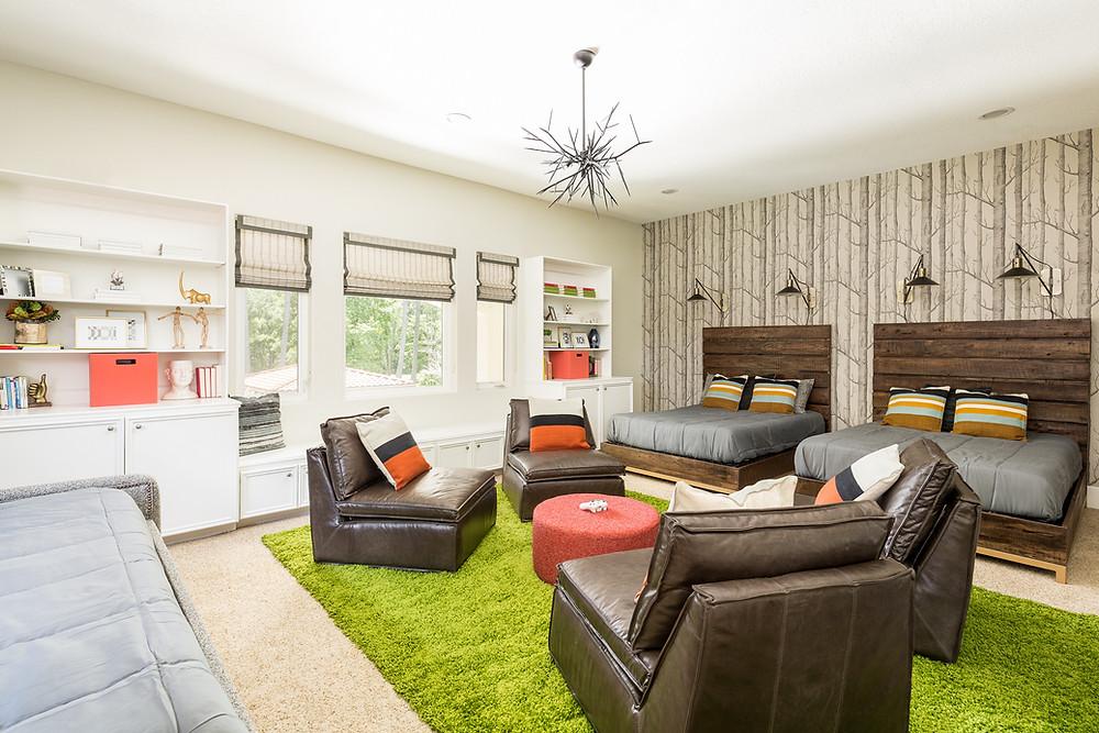 Woodland theme boys' bedroom