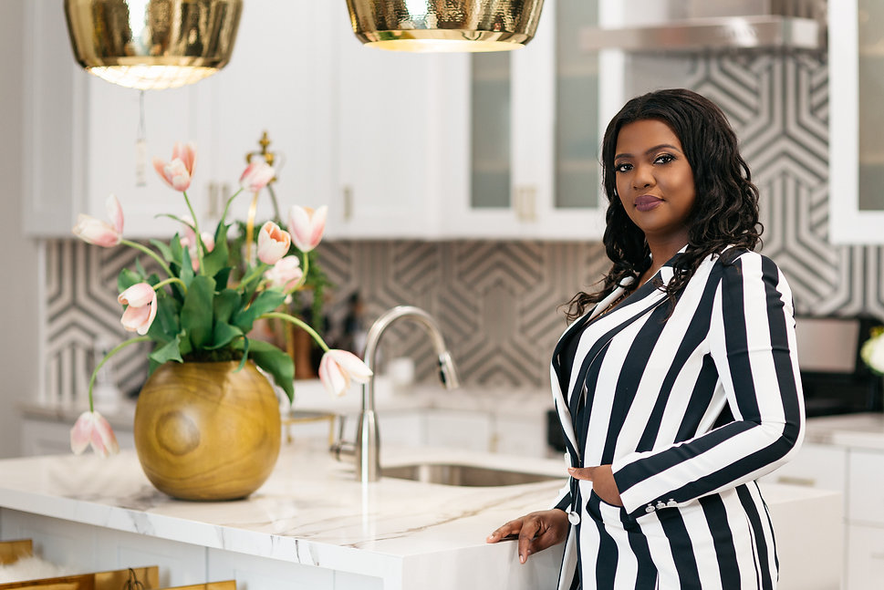 Veronica Solomon in the design studio kitchen