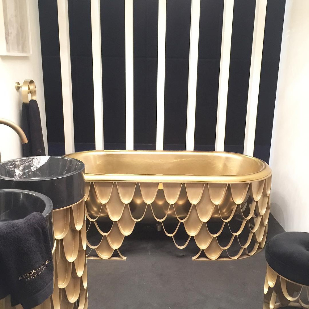 Maison and Objet, January 2019. Brass bath tub