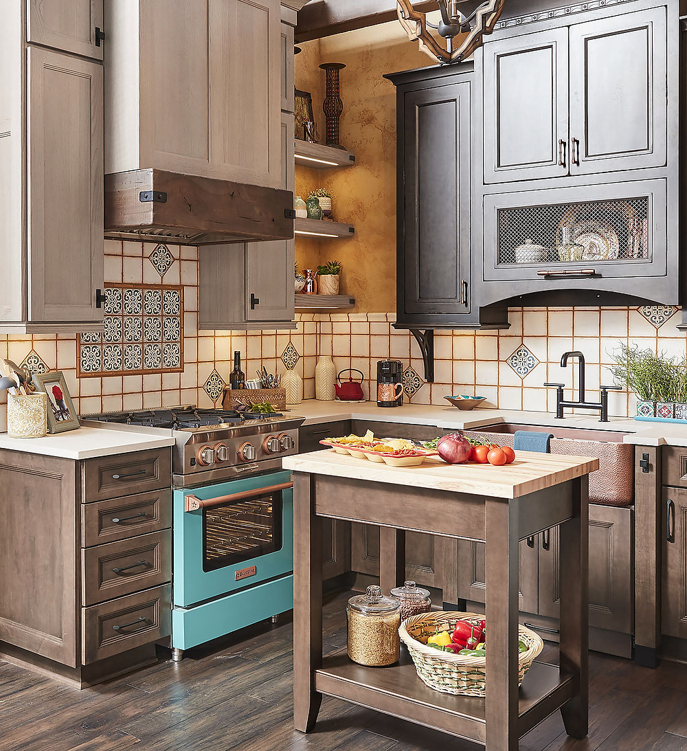 Wellborn Cabinetry Rustic Kitchen