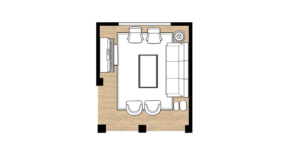 Living Room Floor Plan Created In Icovia