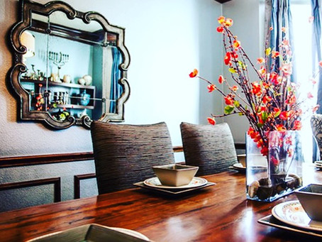 A Monochromatic Dining Room Makeover