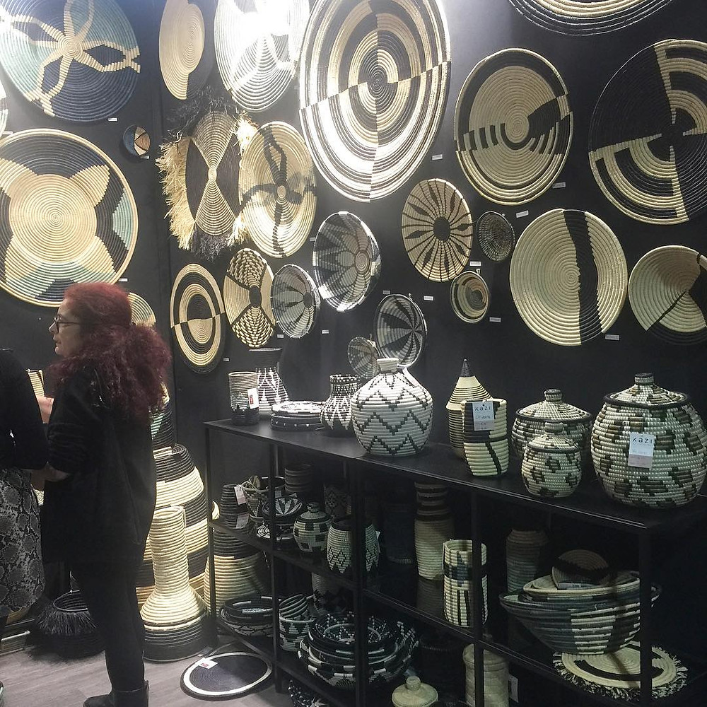 Maison and Objet, January 2019. Ethnic wall baskets