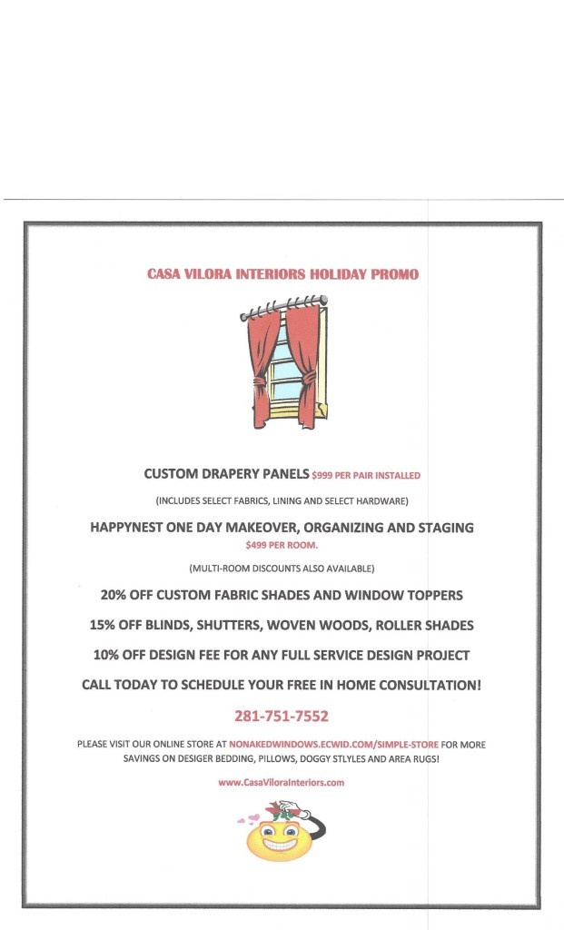Casa Vilora Interiors Holiday Promo