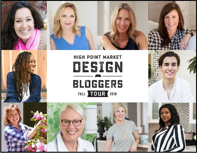 Design Influencers for the High Point Fall market 2018 Design Bloggers Tour