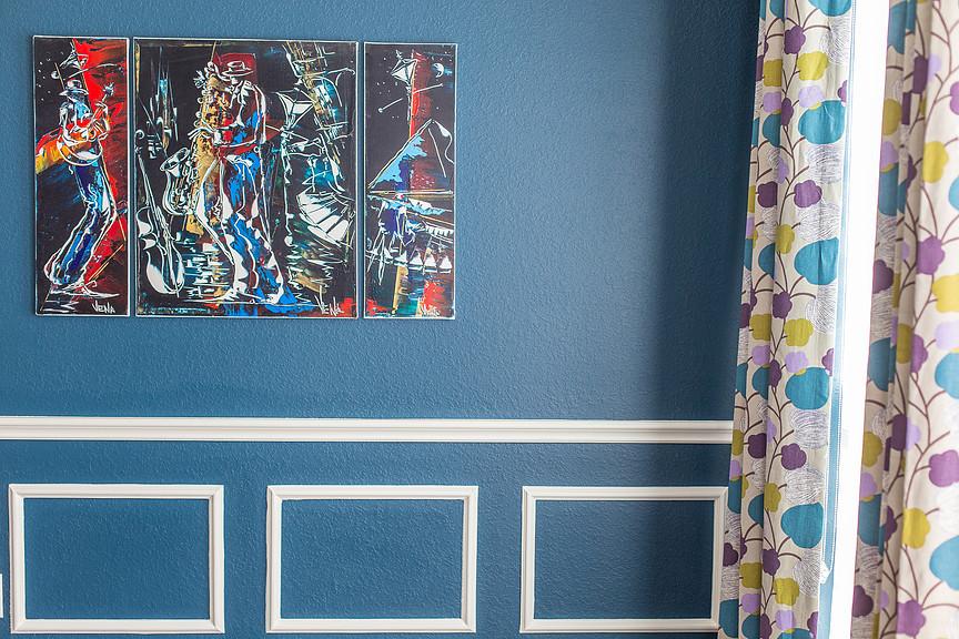 Katy Dining Room. Blue Dining Room