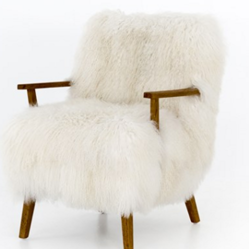 Mongolian Fur Chair