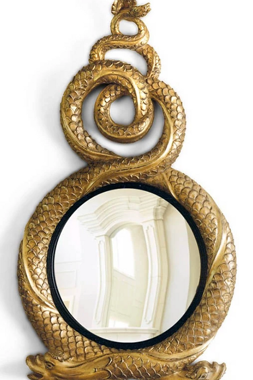 Entwined Dolphin Mirror