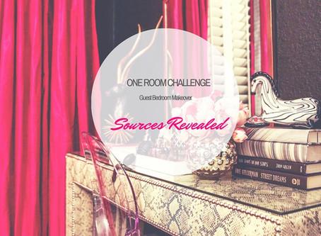 One Room Challenge Guest Bedroom Makeover – Sources Revealed