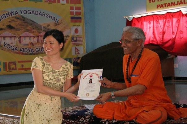 Graduated from Yoga Teachers Training, in Nasik, India, April 2009