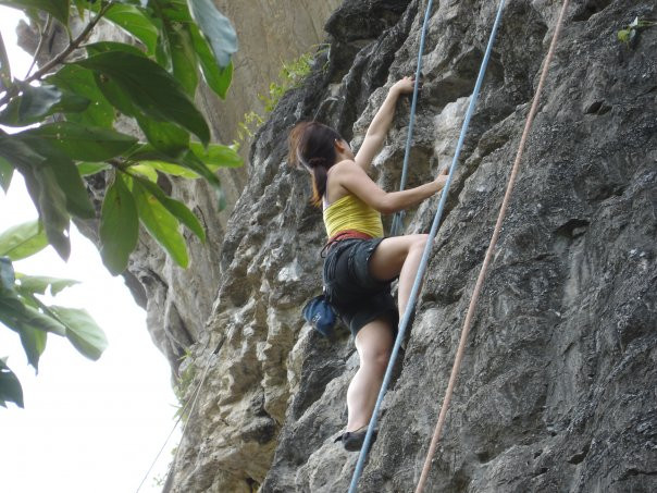 Rock climbing trip in Krabi, Thailand in 2007