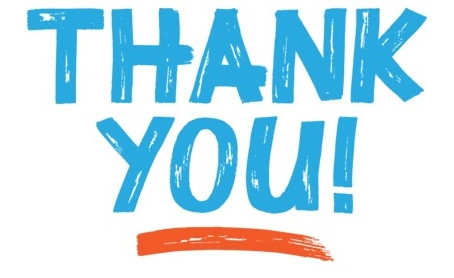 We Want to Say Thank You!!