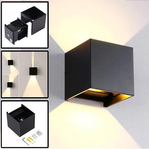 Applique Murale cube Haut / Bas noire