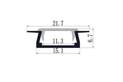 017 - Profil Aluminium avec épaulement 15.1 x 6.7
