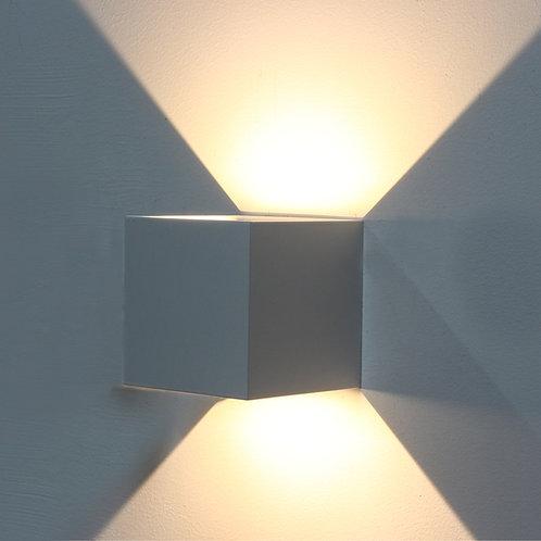 Applique Murale cube Haut / Bas blanche