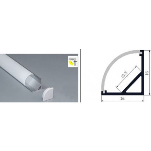 036 - Profil aluminium cornière 16x16