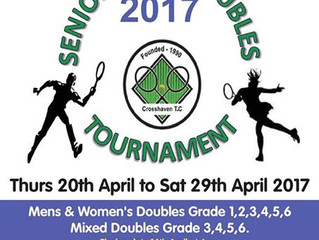 Crosshaven Senior Doubles Tournament: entries closed