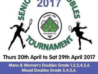 Crosshaven Senior Doubles Tournament: entries closed
