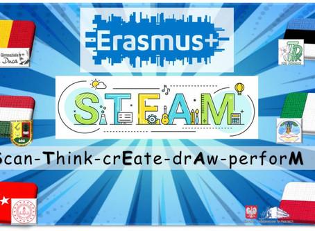 Erasmus+ STEAM(Scan-Think-crEate-drAw-perforM) uygulamaları