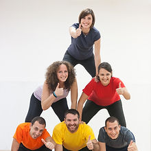 Human Pyramid and Thumbs Up.jpg