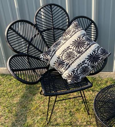 Black Wicker Butterfly Chair