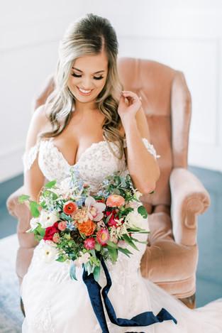 Blush Love Wingback Chair