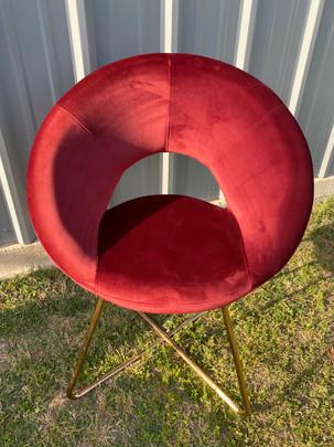 Modern Deep Red Chair