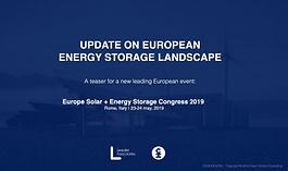 Update on European Energy Storage Landscape