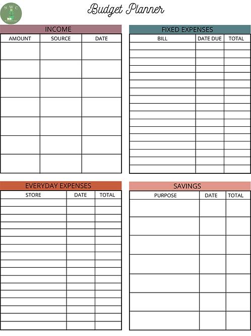 Budget Planner - BP001