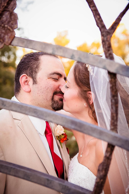 sunset kiss in a park lexington wedding photographer