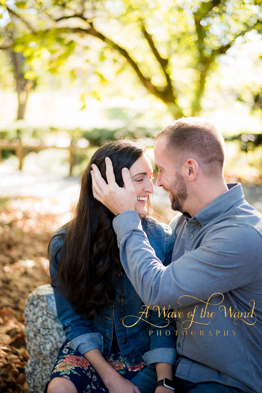 the look of love fall engagement