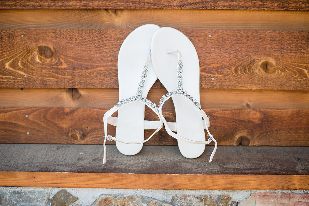 bridal shoes rustic wedding