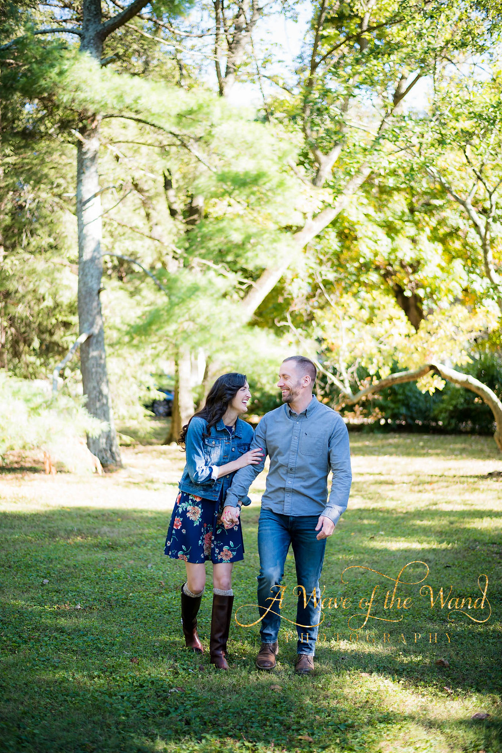fall engagement portraits Lexington cemetery
