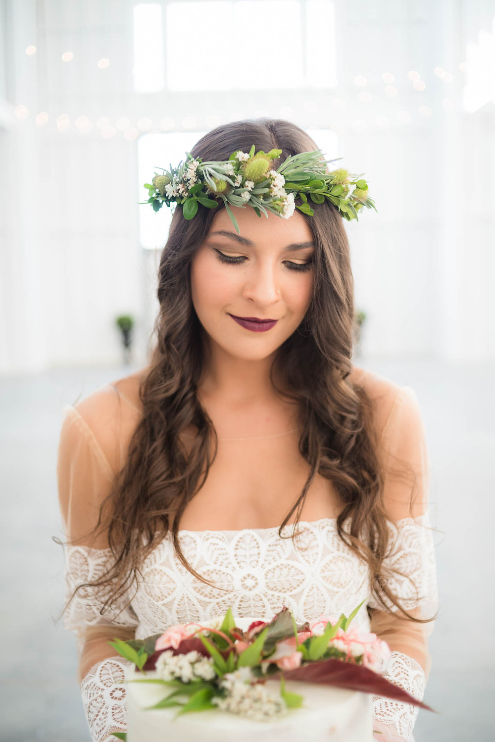 flower crown boho bride