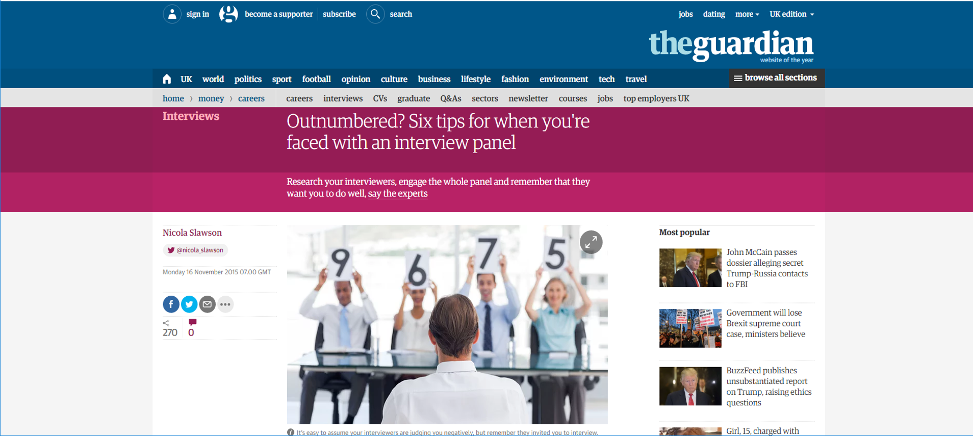6 Tips for when you're faced with an interview panel