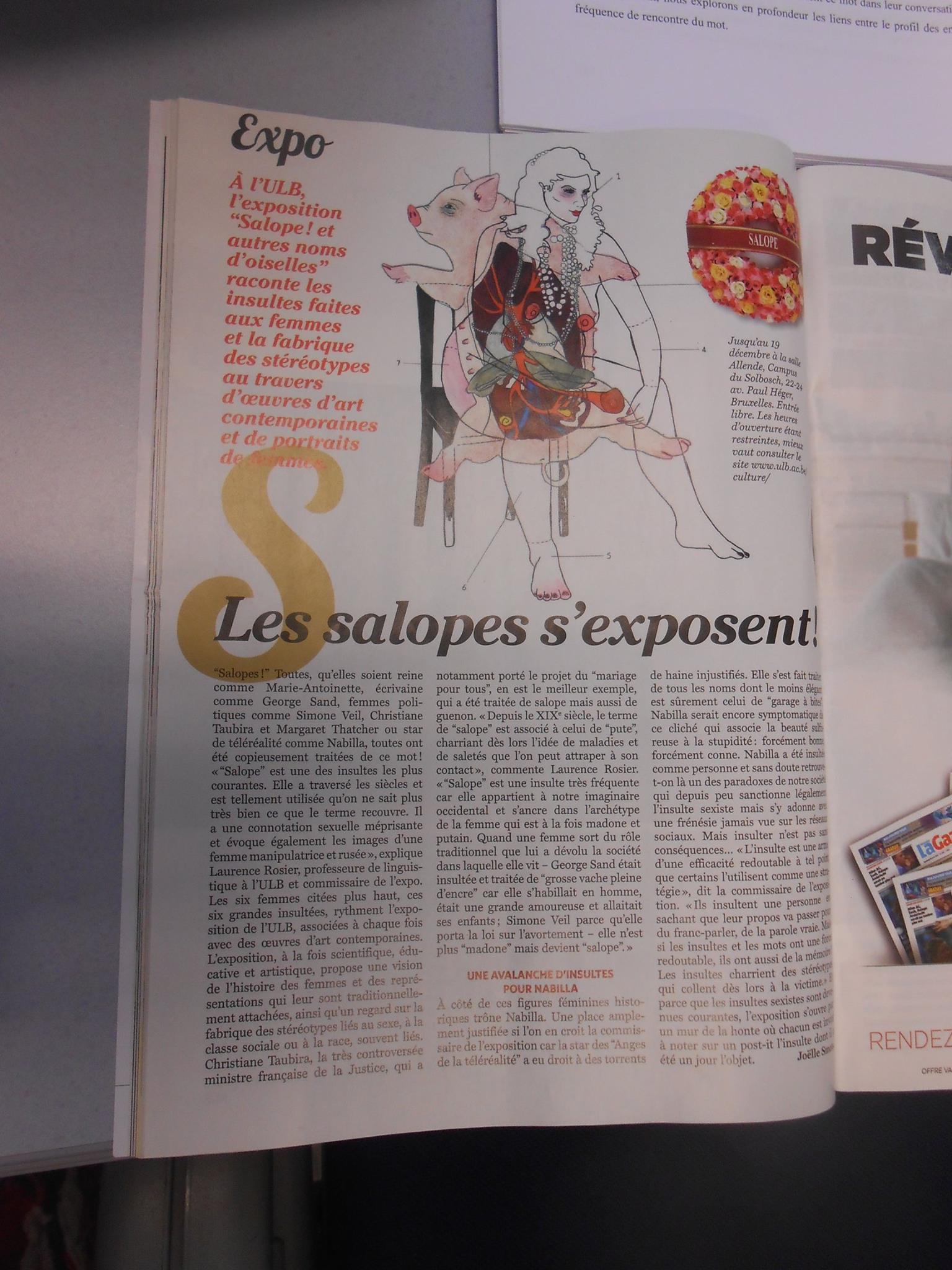 Article dans Soir mag Bruxelles