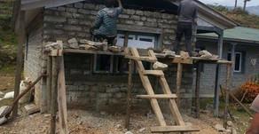 Oktober 2015   Bilder der Renovierung unserer Health Post nach dem Erdbebenschaden