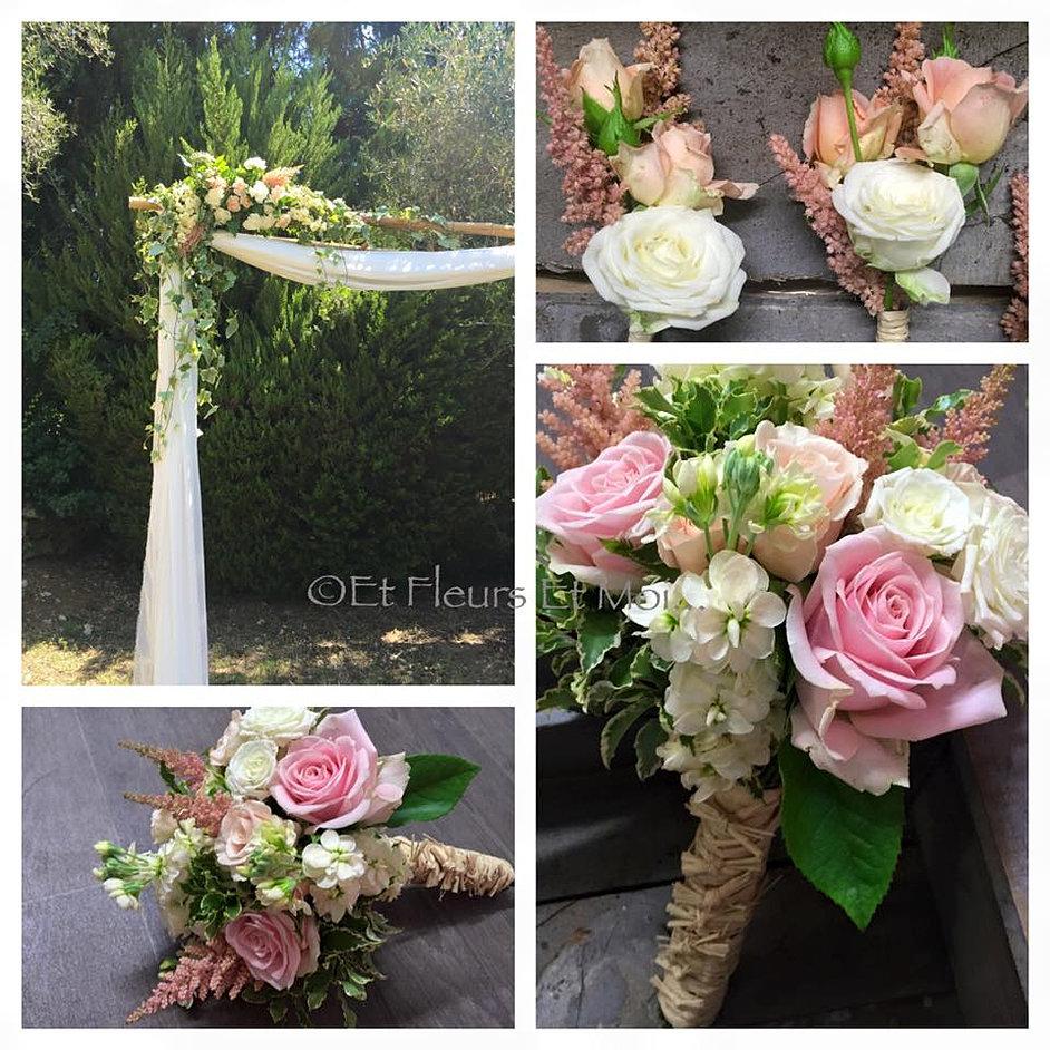 Super Fleuriste à Nice, Décoration florale de mariage, bouquets de mariées HU04