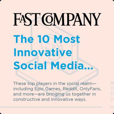 Fast Company - The 10 Most Innovative Social Media...