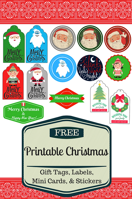 photograph regarding Free Printable Christmas Name Tags referred to as Cost-free Printable Xmas Present Tags, Labels, Stickers, Mini