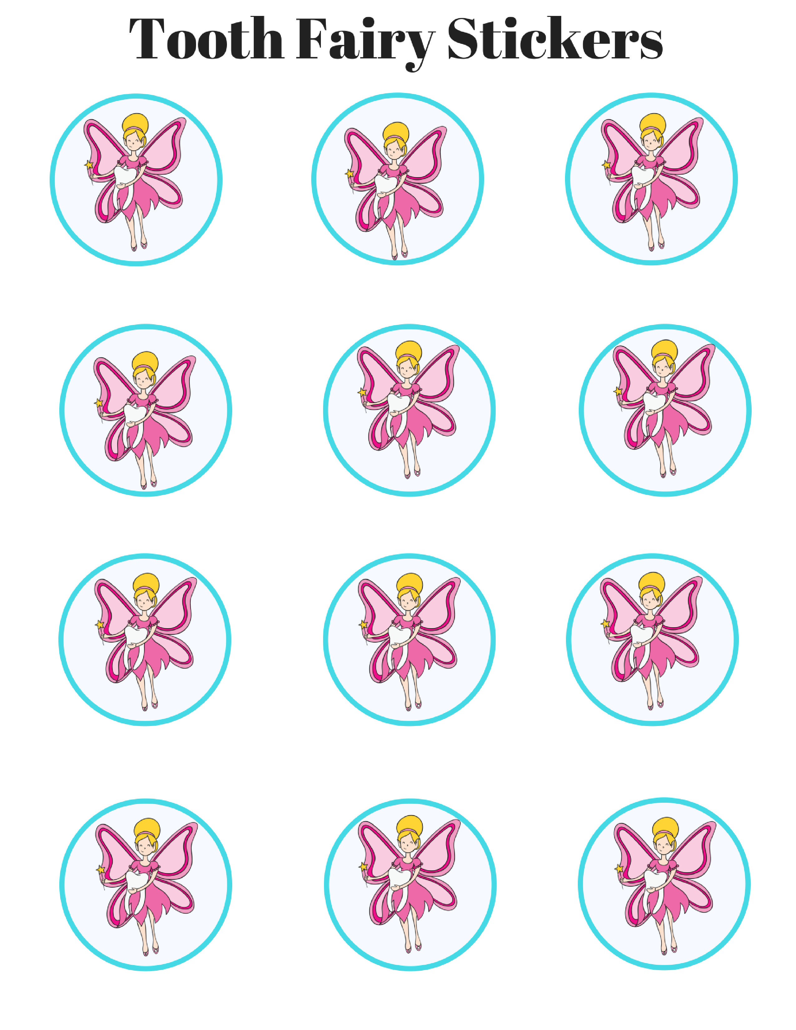 Tooth Fairy-Adorable Free Printable's!