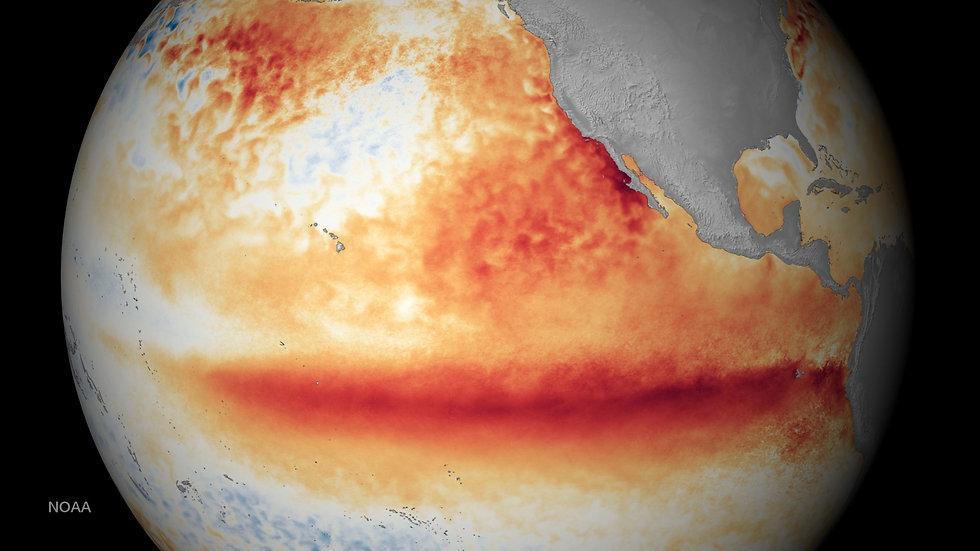 PHOTO - Satellite image showing El Nino