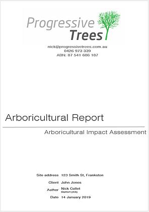 Arboricultural impact assessment / arborist report example