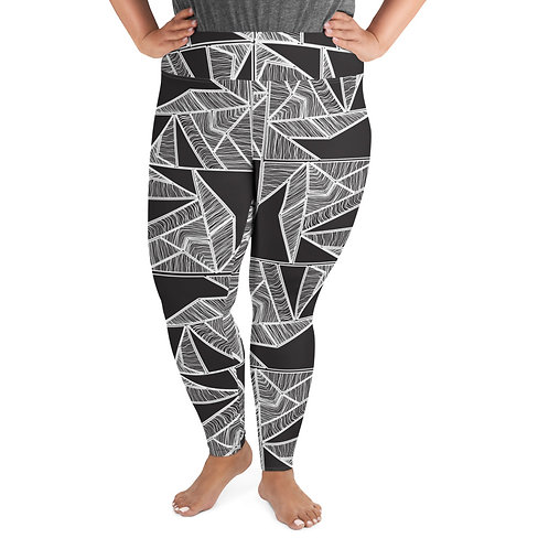Dark Inter Web Plus Size Leggings