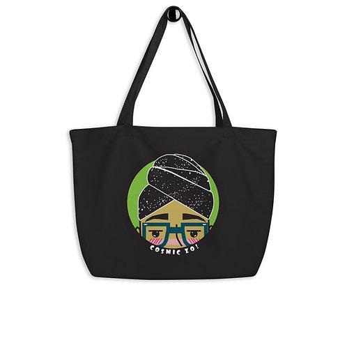 Cosmic Zo! - Large organic tote bag